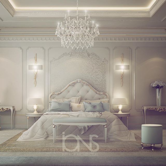 White Home Interior Design Luxury Living Rooms: Bedroom Design • Private Palace • Qatar