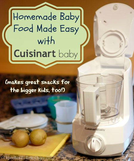 Homemade Baby Food Made Easy with @Cuisinart #giveaway | cupcakesandkalechips.com | #babyfood #homemadebabyfood