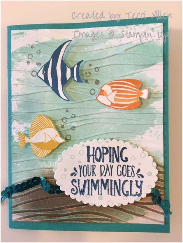 Seaside Shore and Watercolor Wash stamp sets. Annual Catalog 2016, Stampin' Up!