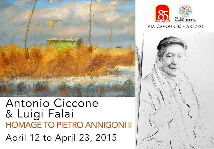 ANTONIO CICCONE & LUIGI FALAI HOMAGE TO PIETRO ANNIGONI II curated by Danielle Villicana D'Annibale  Info: www.VillicanaDAnnibale.com/events