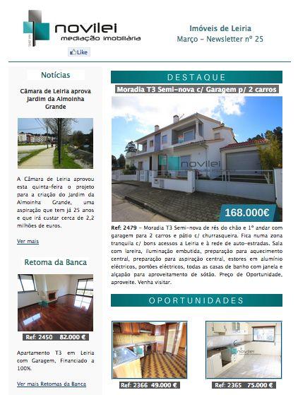 Newsletter nº 25 do dia 29 de Março. Imóveis de Leiria - Oportunidades  #oportunidades #newsletter #news #imobiliaria #imoveis #leiria #novilei #