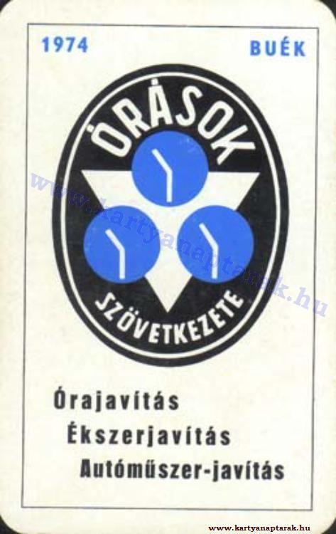 1974 - 1974_0753 - Régi magyar kártyanaptárak