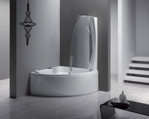 Corner Bath Tub Shower Combination Sphera 140 Aqualife Srl