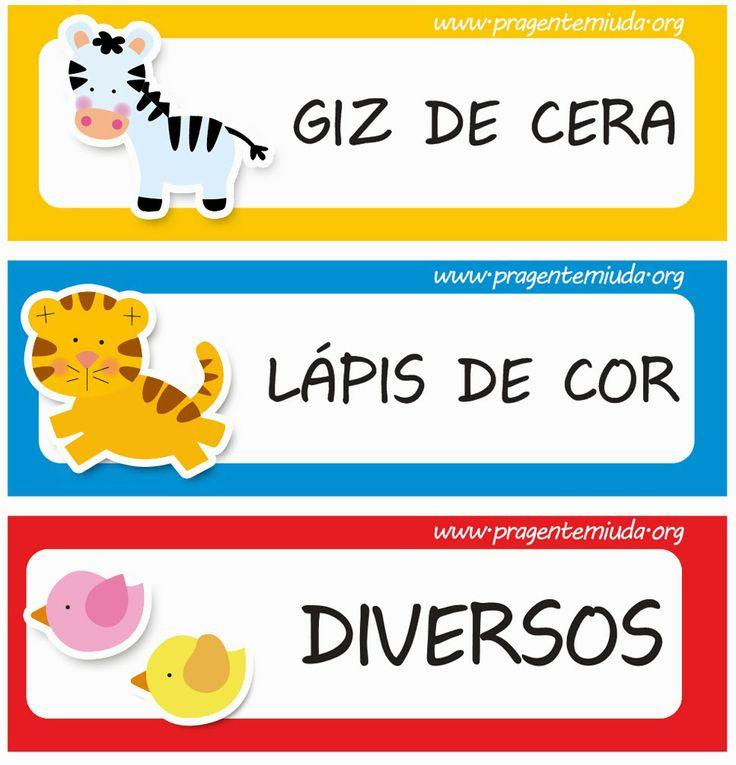 25 melhores ideias sobre etiquetas escolares no pinterest for Andy panda jardin de infantes
