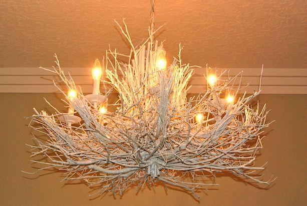 diy branches chandilier | DIY Branch Chandelier