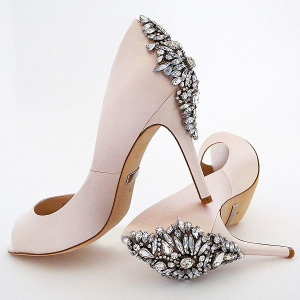 Fashion Only Peep Toe shoes With Crystal Effect- Size 6