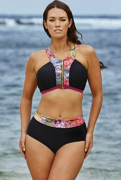Laura Wells Coral Reef Zip Front Bikini