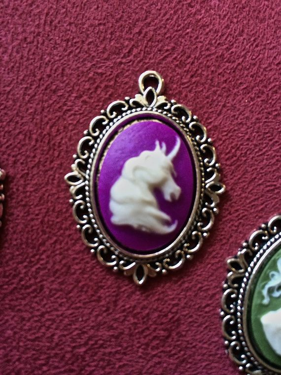 Unicorn Cameo Pendant for your best friend by FairyJaneDesign