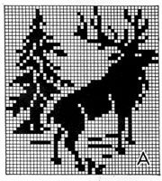 Elk chart for knitting (use for washcloth!)