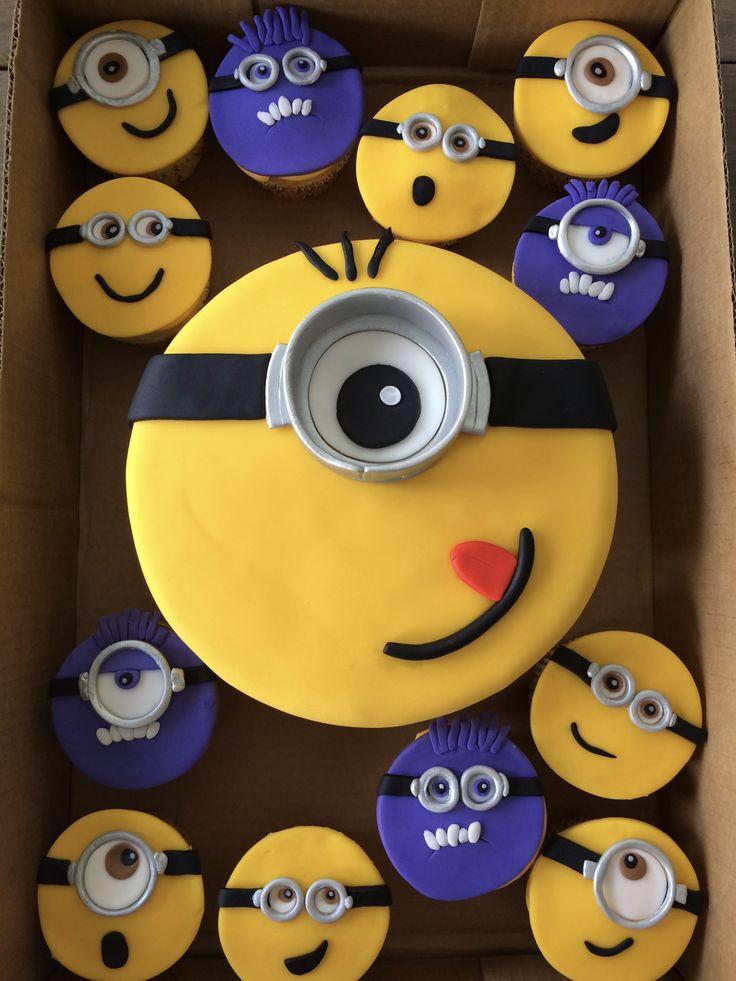 Minion Cake & Cupcakes!