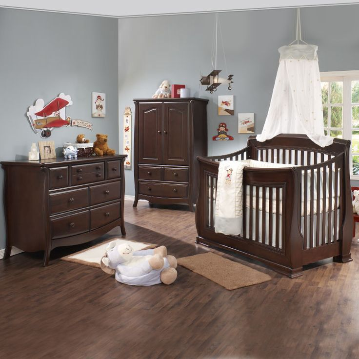 dark wood nursery furniture set - Google Search