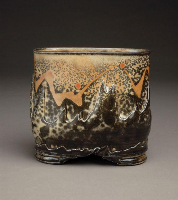 Clay Art Center : Sharon Kelley Warrington : Babu porcelain, Malcolm Davis Shino - flower vase