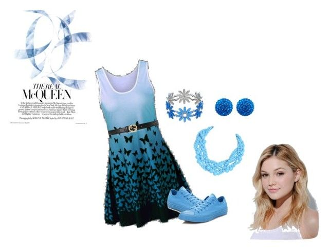 """""""Olivia in Blue set"""" by lana-redway on Polyvore featuring Gucci, Converse, Henri Bendel, Humble Chic and Neutrogena"""