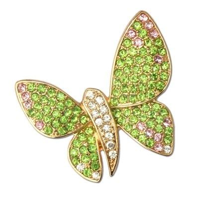 Crystal Butterfly Fashion Brooches Brouches Costume Jewelry $4.61