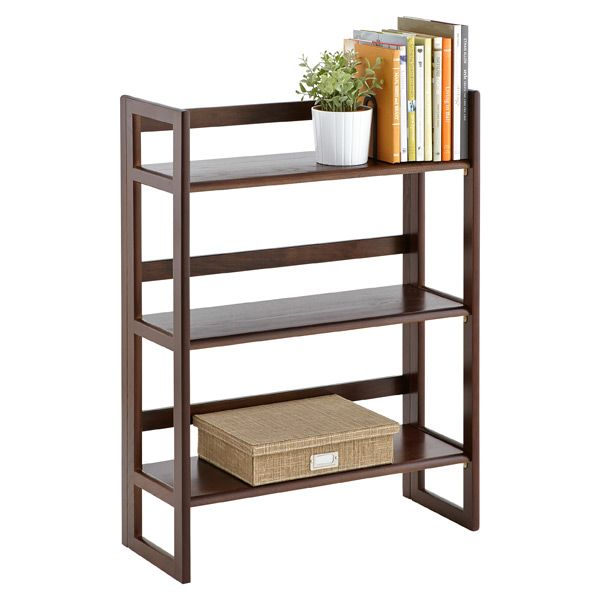 Java Solid Wood Stackable Folding Bookshelf The Container Store