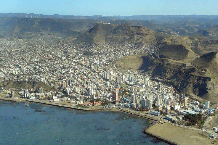 Vista aerea de parte de Comodoro Rivadavia