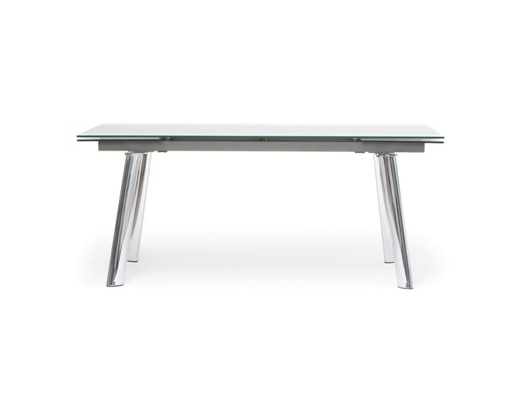 AKO - Glass extendable dining table - Grey