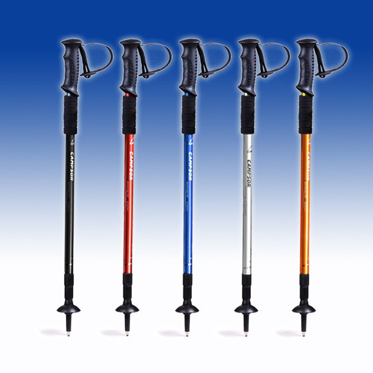 "Adjustable Anti Shock Trekking Hiking Walking Stick 65cm-135cm/ 26 "" to 53 "" with Compass Nordic Walking"