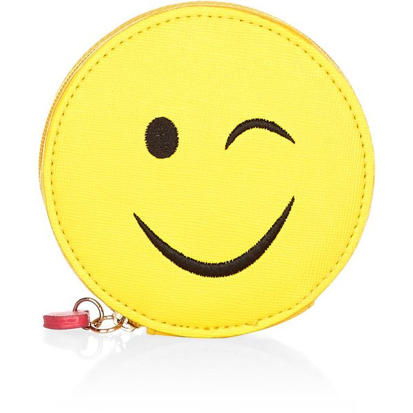 Accessorize Totes Emoji Zip Around Coin Purse ($12) ❤ liked on Polyvore featuring bags, wallets, coin purse, change purse, heart wallet, coin pouch and heart shaped bag