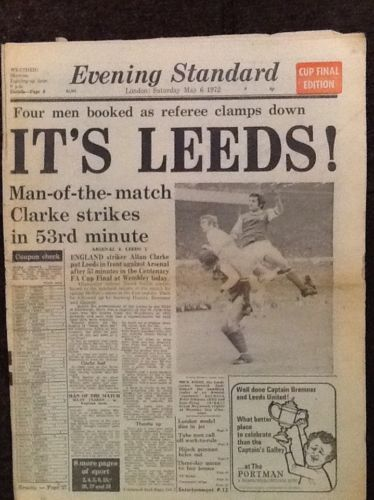 LONDON-EVENING-STANDARD-CUP-FINAL-EDITION-6-MAY-1972-ARSENAL-LEEDS-UNITED