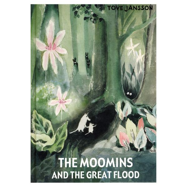 The Moomins and the Great Flood  The Moomins and the Great Flood is the firts book about the Moomins, originally published in 1945. It is the story about Moominmamma and Moomintroll's search för the missing Moominpappa and how they found their way to the Moominvalley. The beginning of all the Moomin adventures!