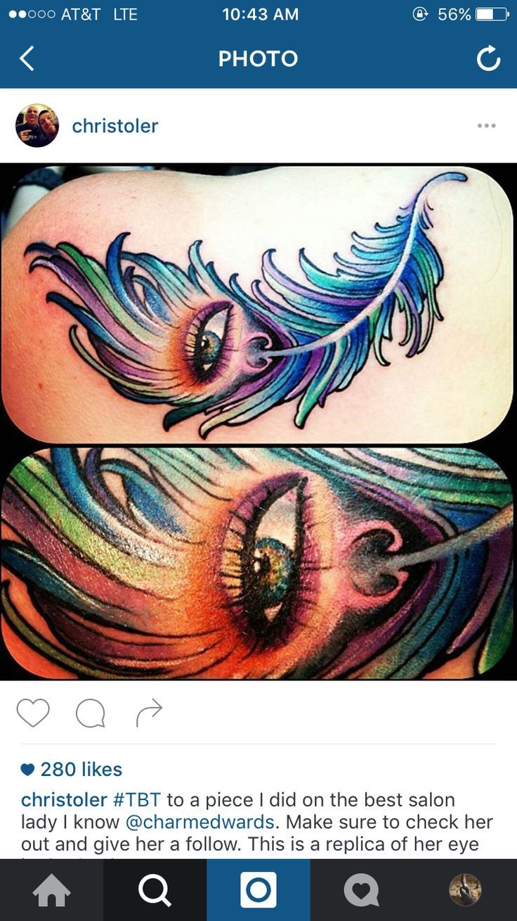 nice Watercolor tattoo - Peacock feather eye abstract realism watercolor tattoo...