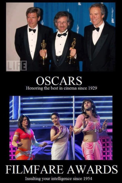 Oscars vs Bollywood Filmfare Awards - I hate watching the Oscars but I never miss the Filmfare Awards! So much more entertaining...