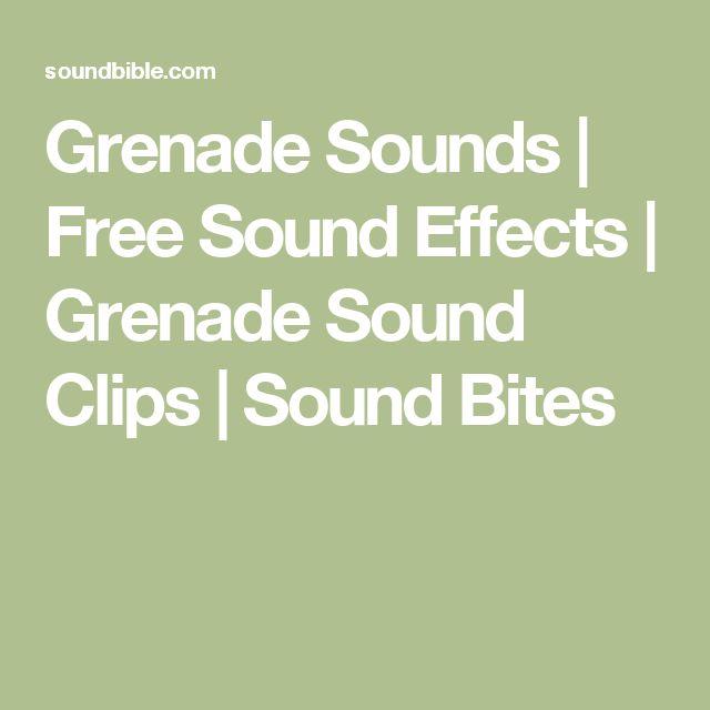 Grenade Sounds | Free Sound Effects | Grenade Sound Clips | Sound Bites