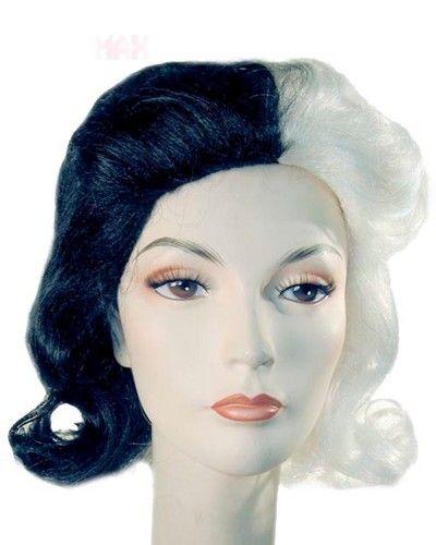 Cruella de vil 101 Dalmations Disney Villain Costume Wig 3 Styles ...