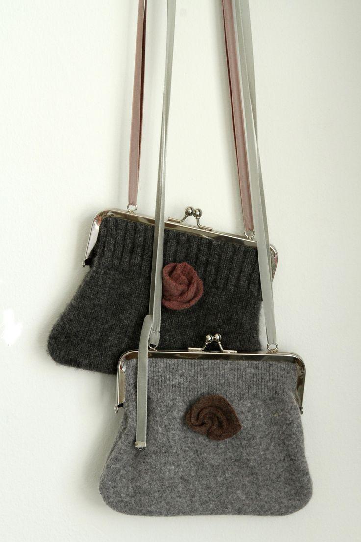 Wool shoulder bags, redesign by Willatar.  jokiå design, Porvoo, Finland.