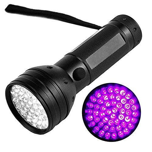 awesome TopEUR Linterna UV antorcha blacklight 51 LED antorchas estándar mascotas detector de luz de la orina para camping violeta luz al aire libre antorcha lámpara manchas insectos falsos billetes de banco