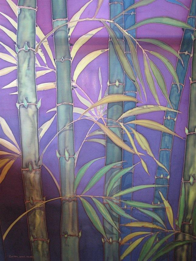 bamboo silk painting