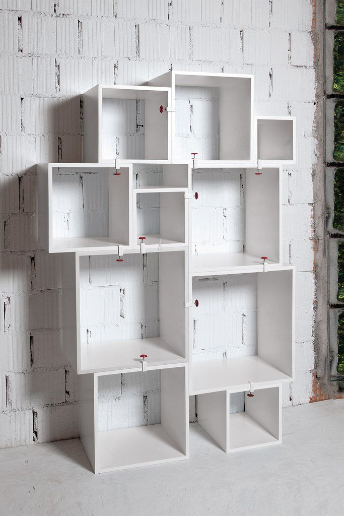 Assemblage White Lacquered Modular Shelf design by Seletti