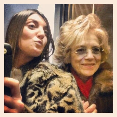 Me & Grandma in fur