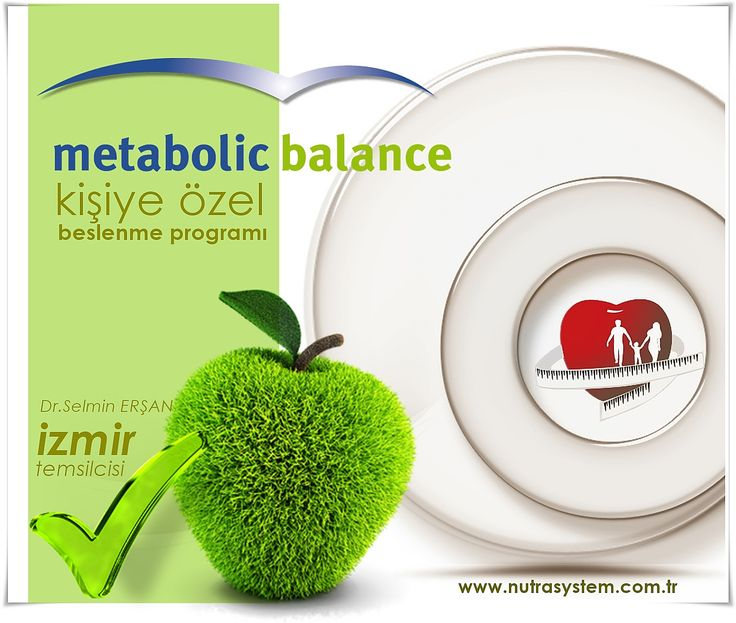 Metabolic Balance (Metabolik Balans | Parmak İzi)  Uygulaması  Kişiye Özel Sağlıklı Zayıflama ve Beslenme Programı  Bu Uygulama Dr.Selmin ERŞAN tarafından İzmir'de NUTRA SYSTEM ALSANCAK Polikliniğinde Uygulanmaktadır.  Randevu ve Sorularınız İçin…  (0232) 463 31 63 | (0532) 7777 179 |alsancak@nutrasystem.com.tr  http://www.nutrasystem.com.tr/izmir-zayiflama-izmir-diyetisyen-izmir-kilo-verme-izmir-beslenme-kocu/metabolic-balance-programi-izmir/