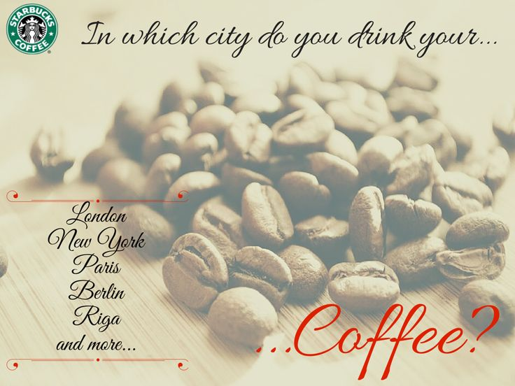 #Pubblicità #Starbucks by Una Pulkstene. And in which #city do you drink your #coffee?