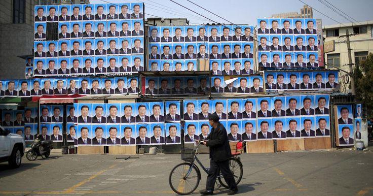 Ide sederhana namun hasilnya cukup manjur, gedung ilegal ini tak jadi digusur karena ditempeli ratusan poster presiden China, Xi Jinping. #gedung #china