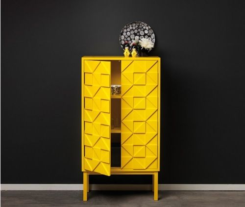 Yellow Storage Cabinet from A2 Sweden