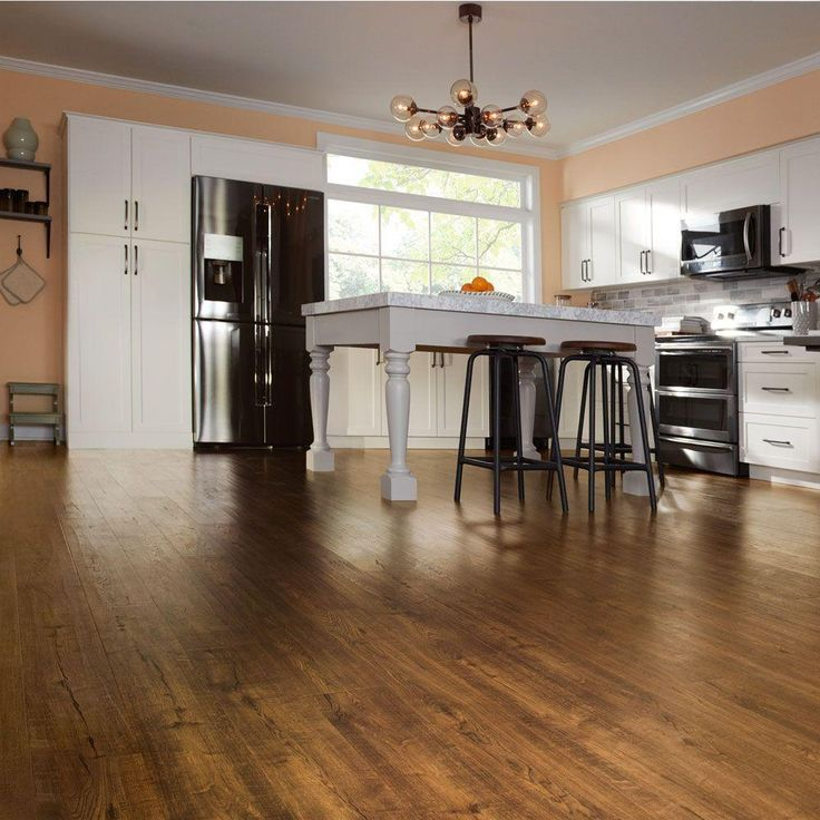 Pergo Outlast+ Auburn Scraped Oak 10 Mm Thick X 6 1/8 In. Wide X 47 1/4 In.  Length Laminate Flooring (16.12 Sq. Ft. / Case), Dark