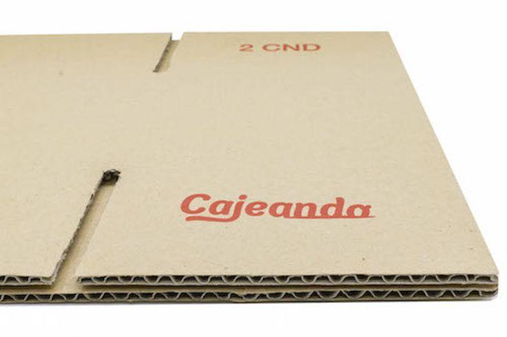 Detalle caja de cartón y/o embalaje, Cartón sencillo.