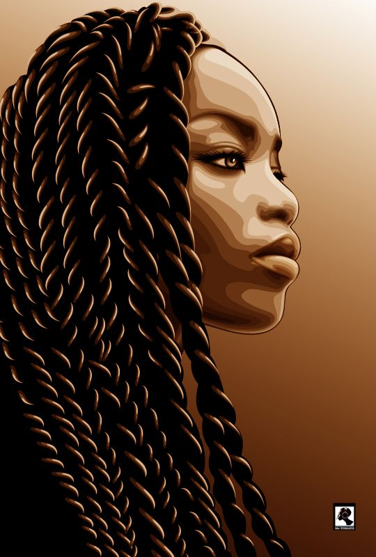 55 Amazing Black Hair Art Pictures and Paintings                              …