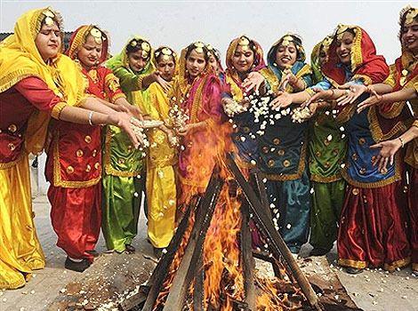 Festival of Lohri..the end of winter.