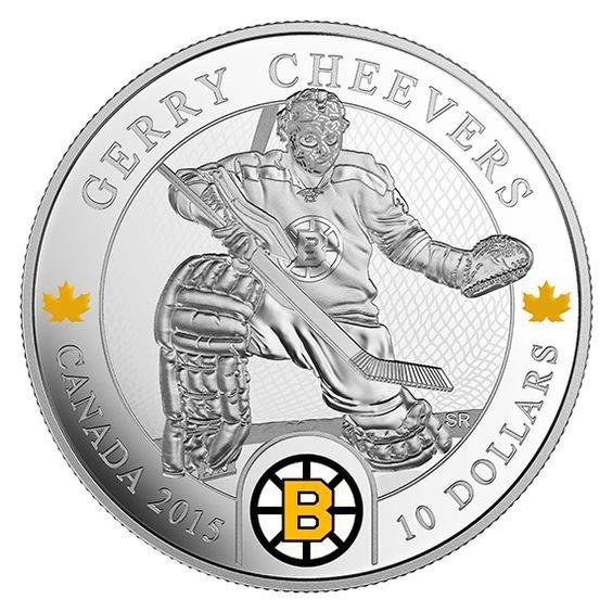 Canada 10 Dollars Silver Coin 2015 National Hockey League Goalies: Gerry Cheevers