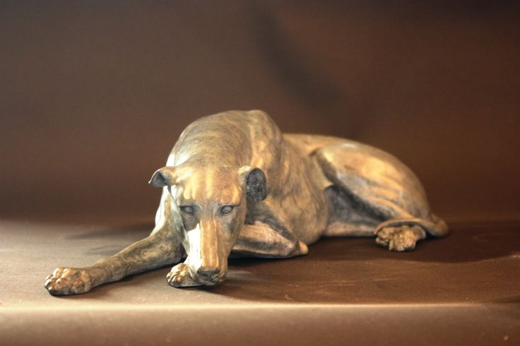 Greyhound II A limited edition bronze by Gill Parker