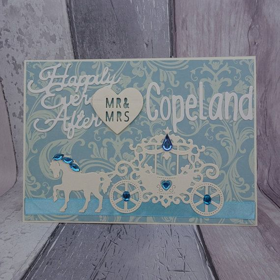 Cinderella wedding card Happily ever after fairytale wedding