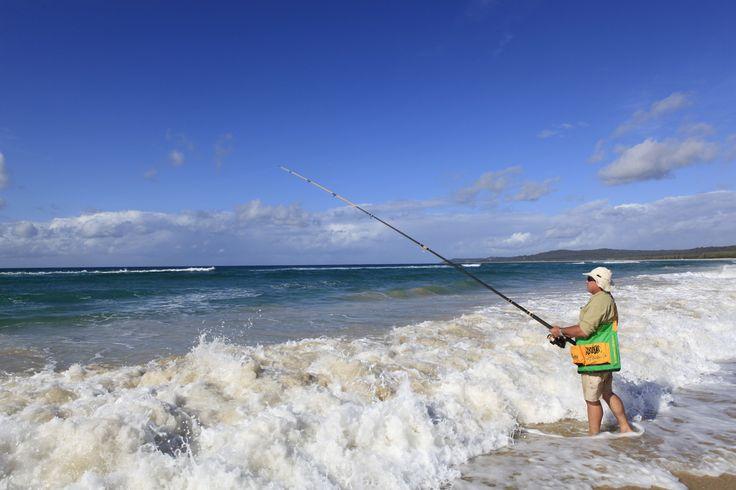 Beach Fishing - Flinders Beach - North Stradbroke Island. #Straddie #weloveStraddie