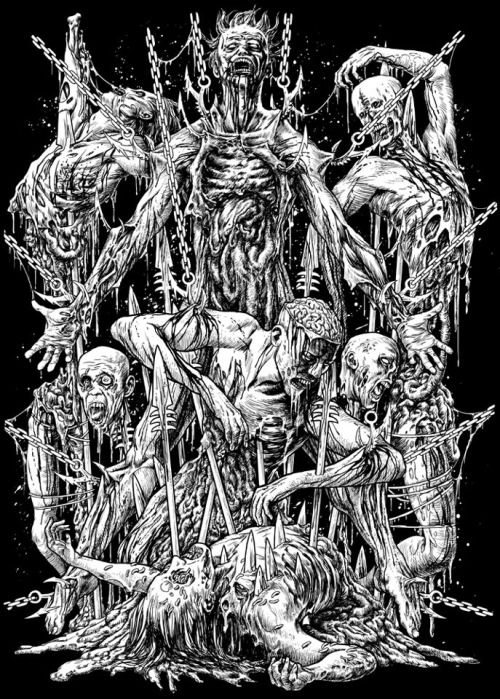 drawing Illustration art design death metal brutal death metal ...