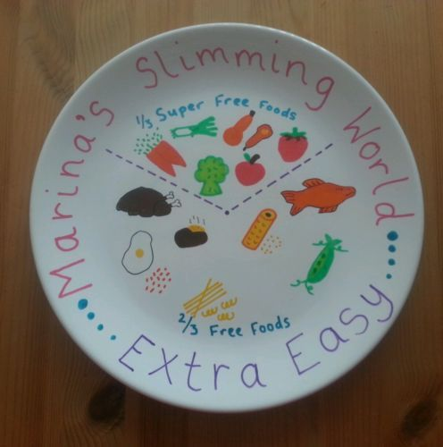 Slimming World inspired Portion Control Plate Extra Easy Plan | eBay