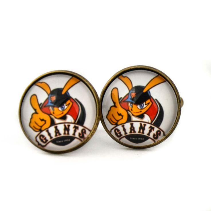 Yomiuri Giants Logo cufflinks. Professional baseball team.Tokyo Yomiuri Giants cufflinks.Personalised Silver.Men's jewelry accessories gift. by Mysstic on Etsy