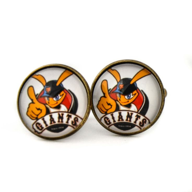 Yomiuri Giants Logo cufflinks. Professional baseball team.Tokyo Yomiuri Giants cufflinks.Personalised Silver.Men's jewelry accessories gift. by Mysstic on Etsy